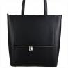 Elegancka czarna torebka shopper duża