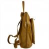 Plecak skórzany A4 lekki kolor musztardowy