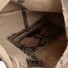 Torebka worek skórzana shopper taupe wzór wężowej skóry