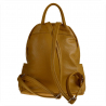 Musztardowy plecak damski ze skóry naturalnej