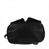 Skórzany plecak czarny z klapą rozmiar L