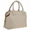 Bardzo duża torba skórzana popielata shopper bag XXL