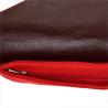 Torebka kopertówka czerwona lekka zamszowa S