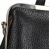 Torebko plecak skórzany czarny