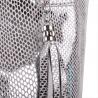 Torba worek srebrny ze skóry naturalnej XL