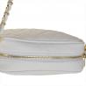 Modna skórzana listonoszka z łańcuszkiem S biała