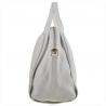 Pojemna torebka skórzana biała rozmiar L