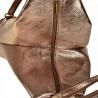 Zgrabny plecak skórzany stare złoto lekki
