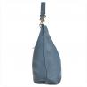 Torebka skórzana shopper niebieska dżins