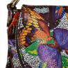 Lekka listonoszka ze skóry naturalnej z motylkami