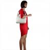 Skórzana torba na ramię biała L