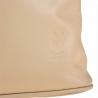 Zgrabny plecak skórzany beżowy lekki
