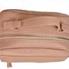 Elegancka torebka listonoszka kuferek róż pudrowy z ćwiekami