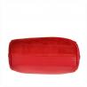 Modna listonoszka skóra z zamszem M czerwona