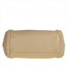 Pojemna torebka skórzana rozmiar L jasno beżowa