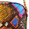 Modna skórzana listonoszka z łańcuszkiem kolorowa