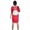 Biały plecak damski ze skóry naturalnej ze złotymi zamkami