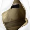 Zgrabny plecak skórzany biały lekki