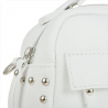 Elegancka torebka listonoszka kuferek biała z ćwiekami