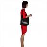 Skórzana torebka shopper czarna na ramię
