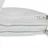 Modna skórzana listonoszka kolor biały