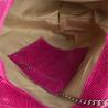 Torebka shopper skórzana z połyskiem XL w kolorze fuksji