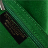 Torebka skórzana shopper worek kolor zielony