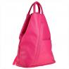 Zgrabny plecak skórzany lekki kolor fuksja