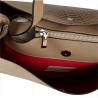 Vezze- torebka beżowa skórzana wzór wężowej skóry
