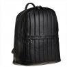 Czarny plecak damski ze skóry naturalnej pikowany XL