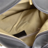 Zgrabny plecak skórzany szary lekki