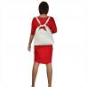 Torebko plecak duża biały XL