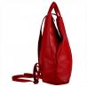 Zgrabny plecak skórzany czerwony lekki