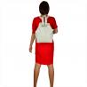 Plecak skórzany z funkcją torebki w kolorze białymy VEZZE