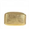 Modna skórzana listonoszka z łańcuszkiem złota