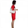 Lekka skórzana torebka shopper bag biała