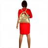 Torebko plecak duży złoty XL