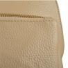 Plecak skórzany beżowy A4 lekki