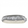 Torebko plecak duży srebrny XL