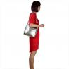 Lekka torba skórzana srebrna na ramię