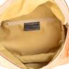 Lekka skórzana listonoszka z szerokim paskiem rózowe złoto