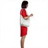 Skórzana torebka shopper biała na ramię