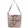 Lekka torba skórzana z kwiatkami