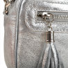 Listonoszka srebrna skórzana rozmiar M