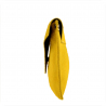 Torebka kopertówka żółta lekka zamszowa S