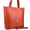 Elegancka pomarańczowa torebka shopper duża