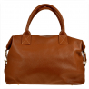 Bardzo duża torebka skórzana camel shopper bag- XXL
