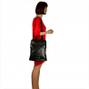 Duży plecak czarny skórzany A4 skóra naturalna VEZZE