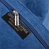 Torebka skóra naturalna zamszowa shopper niebieski dżins worek