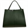 Duża torebka skórzana zielony shopper bag